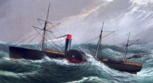 Steamship In Storm