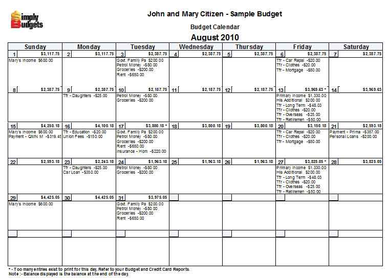 budget-calendar